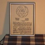 Kabbalistic Amulet on Shelf Near Bed